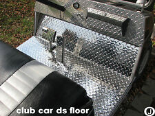 Club Car DS Golf Cart Aluminum Diamond Plate Floor Mat Fits   1982 and up