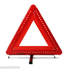 TW60L EMERGENCY ROAD TRAFFIC TRIANGLE FLASHING 60 RED LED's REFLECTIVE  3x AA