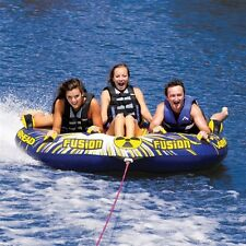 Airhead Fusion Cockpit Inflatable Water Tube 1-3 Rider Boat Tow Towable AHFN-12