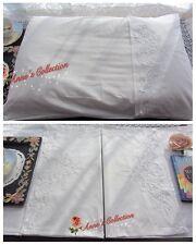 Victorian Battenburg Lace Pillow Sham/Cover~Envelop Style~Cotton~White~Wedding~