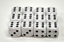 Chessex Dice d6 Sets Arctic Camo Speckled 16mm Six Sided Die 12 Block CHX 25711