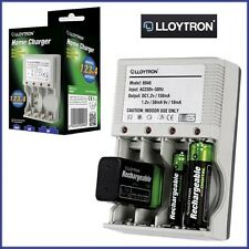 Plug-In Mains Battery Charger Home Rechargeable AA/AAA/9V/PP3 Lloytron Ni-Mh UK