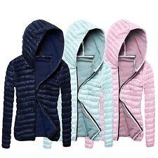 Women Ladies Winter Warm Jacket Overcoat Parka Thin Slim Down Coat  Zipper Tops