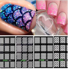 HOT Sale 12PCS Stencil Stickers Vinyls Nail Art Manicure Stamping Plate Tool