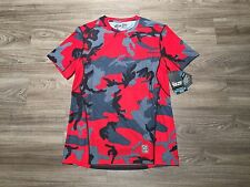 Nike Men Pro Combat Hypercool Fitted Woodland Crimson Dri-FIT Shirt M 657442-647