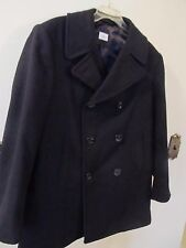 MENS Authentic U.S. Navy Wool Pea Coat 42R 8405-01-154-5793