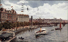 Schiffe 1924 Dampfschiff Themse London Great Britain England Thames Embankment
