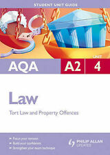 AQA A2 Law: Unit 4: Criminal Law (Offences Against Property) and Law of Tort (St