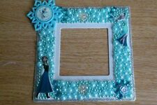 Embellished Character lightswitch surround finger plate frozen/princess