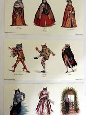 Cat Prints from Venice - Set of 3 Aristocratic Venetian Cats in Costume Qty