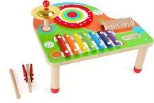 Kinder Musiktisch Motorik Rhythmus Instrumenten-Tisch Holz