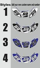 1989-1990 Yamaha YZ125 YZ 125 Number Plates Side Panels Graphics Decal