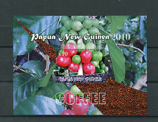 Papua New Guinea 2010 MNH Coffee 1v S/S Trees Cherries Plants Stamps