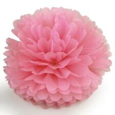 "10pcs 6"" inch Wedding Party Home Decor Tissue Paper Pom Poms Flower Balls Pink"