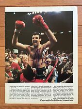 Boxing GERRY COONEY Autographed Signed Color Photo