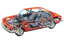 BMW 320 COUPE E21 CAR CUTAWAY POSTER PRINT 24x36 HI RES
