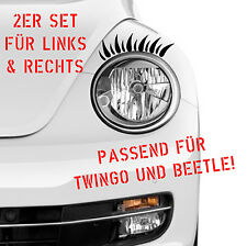 Car decal 1 PAIR EYELASHES Headlight Beetle Twingo Set Sticker DUB OEM 350