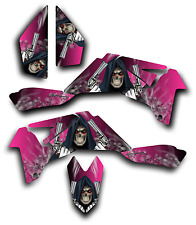 SUZUKI LTR450 R GRAPHICS DECAL KIT GRIM REAPER REVENGE Sticker LTR 450 PINK