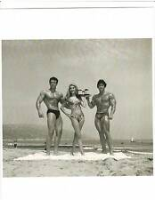 DON PETERS /Don Horworth/ with Girl Muscle Beach  Bodybuilding  Photo B+W