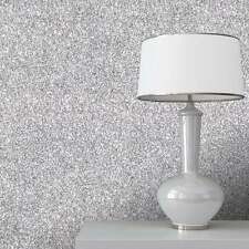 Textured Sparkle Glitter Feature Wallpaper Roll Silver | Black | Gold | Mink 10m