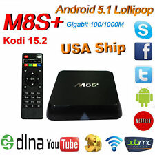 M8S Plus /XBMC Smart TV Box 4K Quad Core Android 5.1 Lollipop 2GB RAM 8GB HD