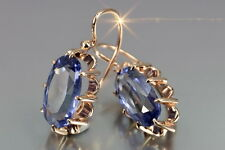 veax039rp Russian rose Soviet gold plated amazing Alexandrite earrings -925 rep.