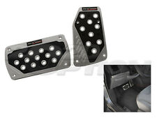 SILVER BLACK BRAKE AUTOMATIC GAS PEDAL PADS FOR CROSSFIRE CHALLENGER WRANGLER