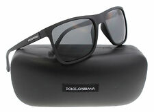 New Dolce & Gabbana Sunglasses Men DG 6086 Black 2805/87 DG6086 56mm