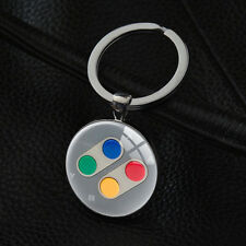 Cool Nintendo Controller Pad Keychains Silver Pendant Vintage Key Chain Keyring