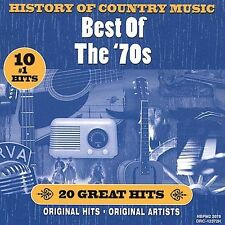 History of Country Music: Best of the '70s by Various CD Free Ship #HD89