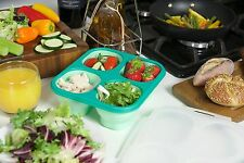 JWP Portion Perfect Collapsible Silicone Lunch Box with 4 Compartments Pa... NEW