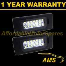 2X FOR BMW 3 SERIES E46 E90 E91 E92 E93 M3 18 WHITE LED NUMBER PLATE LIGHT LAMPS