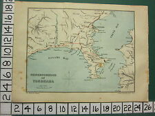 1901 JAPAN JAPANESE TOURIST MAP ~ NEIGHBOURHOOD OF YOKOHAMA ~ SAGAMI BAY URAGA