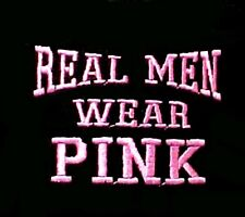 Real Men Wear Pink T Shirt Breast Cancer Awareness Black 3XL 50/50 New