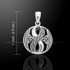 Celtic Infinity Trinity .925 Sterling Silver Pendant by Peter Stone