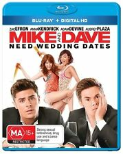 Mike And Dave Need Wedding Dates (Blu-ray, 2016) (Region B) Aussie Release