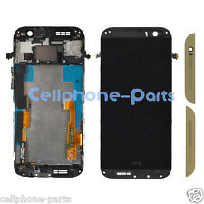 HTC One M8 831C LCD Screen Display with Digitizer Touch and Bezel Frame, Gold