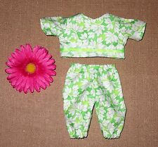 """Handmade Doll Clothes for 11"""" - 13"""" Baby Dolls - """"Spring is Here"""" 2pc Play Set"""