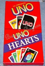 Mattel the Original UNO & UNO Hearts Card Games - Complete –Factory Sealed - NIB
