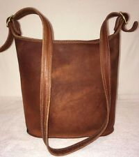 COACH VERY RARE NYC VINTAGE BROWN LEATHER MESSENGER PURSE 289-1736 EEVC