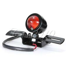 Motorcycle Bullet Bulb Tail Light Lamp With Plate For Harley Chopper Bobber