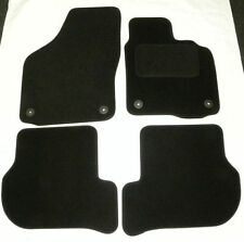 Black Floor Mats for VW Golf MK6 Deluxe Tailored Carpet Car Mats 08 On b1352
