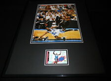 Allen Iverson 16x20 Framed Game Used Jersey & Photo Display 76ers B
