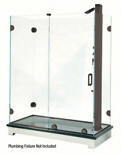 Oil Rubbed Bronze Essence Series Basic Sliding Shower Door Kit with Squared