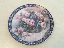 Roses by Lena Liu, Basket Bouquet Collectible Plate