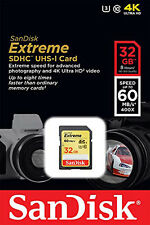 Sandisk 32G extreme class 10 SD card for Fujifilm X100 X20 X10 X-S1 HS50EXR DSLR