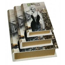 New Set of 3 Marilyn Monroe Storage Boxes Book Shape Box 3 Sizes SALE