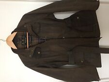 Womens Brown Waxed Belted Barbour Jacket Size 16
