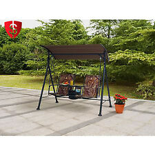 Outdoor 2 Seat Porch Bungee Swing Canopy Cover Table Garden Patio Furniture