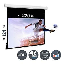 Beamer Leinwand Tension Motorleinwand 100 Zoll 220 x 123 / 16:9 Full HD 3D 4K